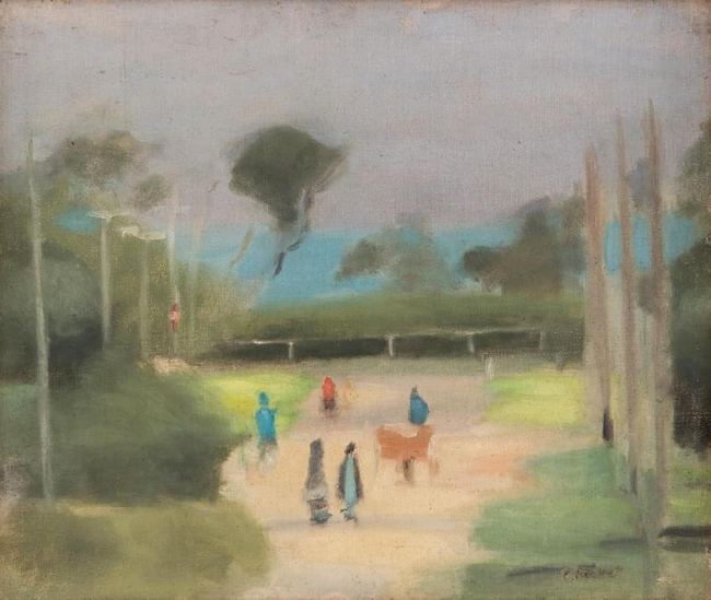 Clarice Beckett (Australia, 1887-1935) 'Out Walking' c. 1928-29