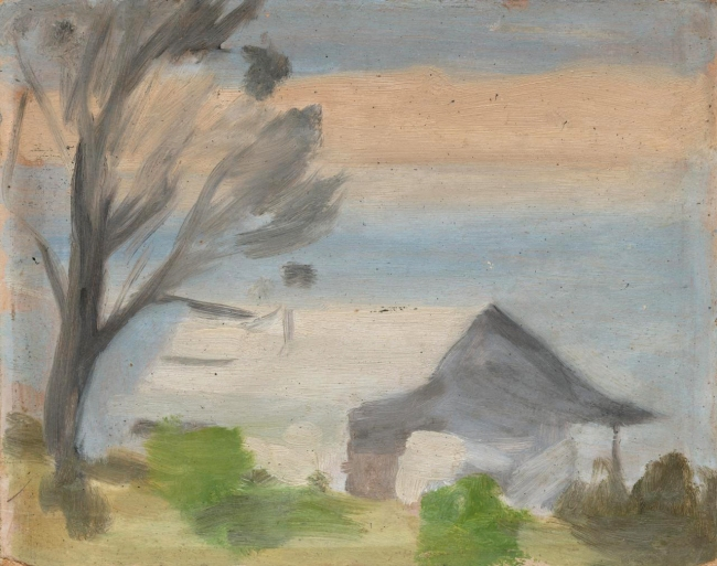 Clarice Beckett (Australia, 1887-1935) '(Phillip Island from San Remo)' c. 1930-1933