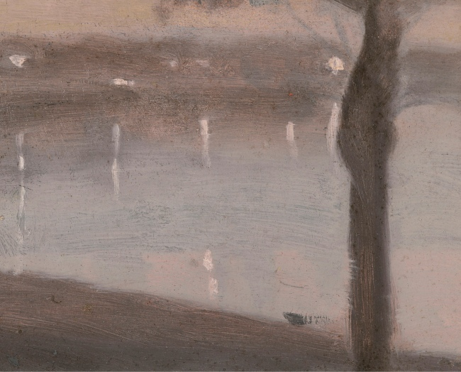 Clarice Beckett (Australia, 1887-1935) 'Reflected Lights, Beaumaris Bay' c. 1930-31