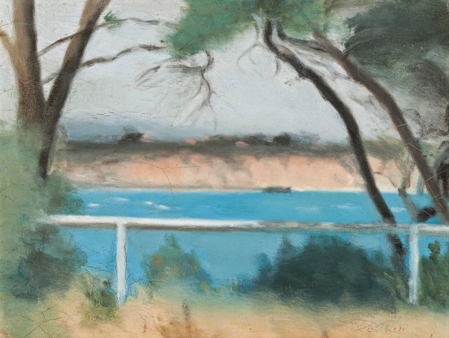 Clarice Beckett (Australia, 1887-1935) 'Summer Morning, Beaumaris' Nd