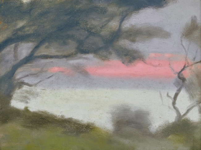 Clarice Beckett (Australia, 1887-1935) 'Sunset Glow' 1928