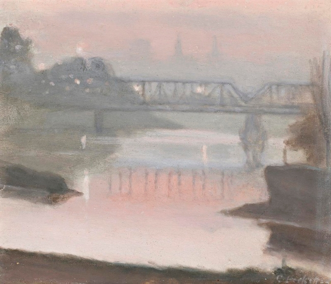 Clarice Beckett (Australia, 1887-1935) 'The Yarra, Sunset' c. 1930