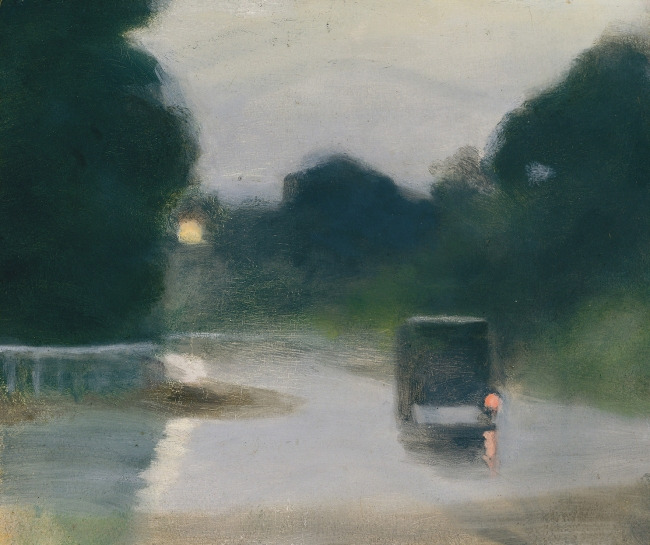 Clarice Beckett (Australia, 1887-1935) 'Wet Evening' c. 1927