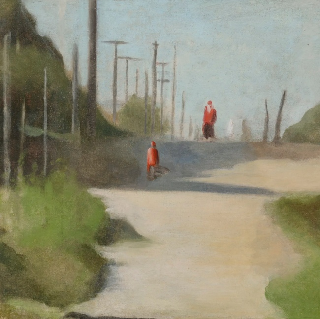 Clarice Beckett (Australia, 1887-1935) 'Walking home' c. 1931
