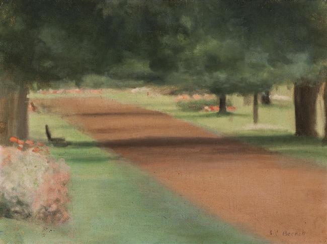Clarice Beckett (Australia, 1887-1935) 'Chestnut Avenue, Ballarat Gardens' c. 1927
