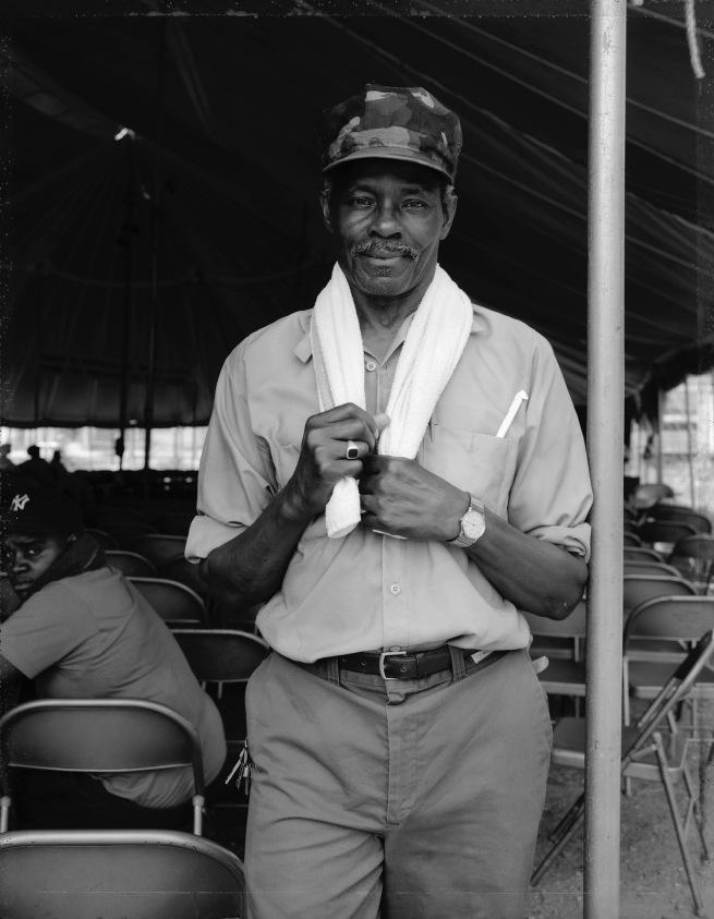 Dawoud Bey (American, b. 1953) 'A Man with a Towel, Brooklyn, NY 1989' 1989