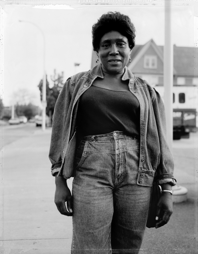Dawoud Bey (American, b. 1953) 'A Woman Wearing Denim, Rochester, NY 1989' 1989