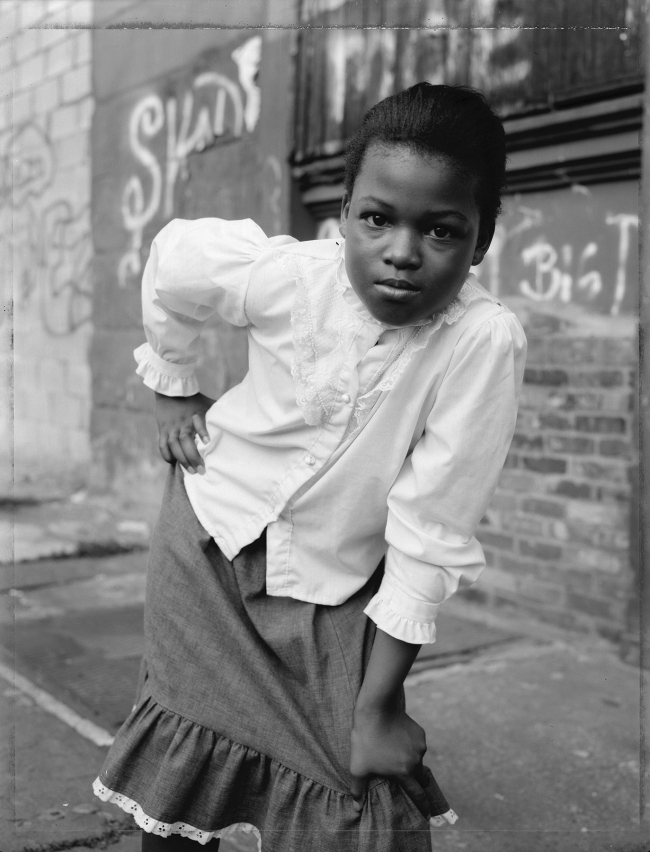 Dawoud Bey (American, b. 1953) 'A Young Girl Striking A Pose, Brooklyn, NY, 1988' 1988