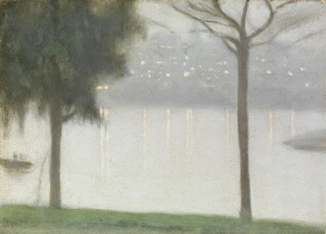 Clarice Beckett (Australia, 1887-1935) 'Across the Yarra' c. 1931