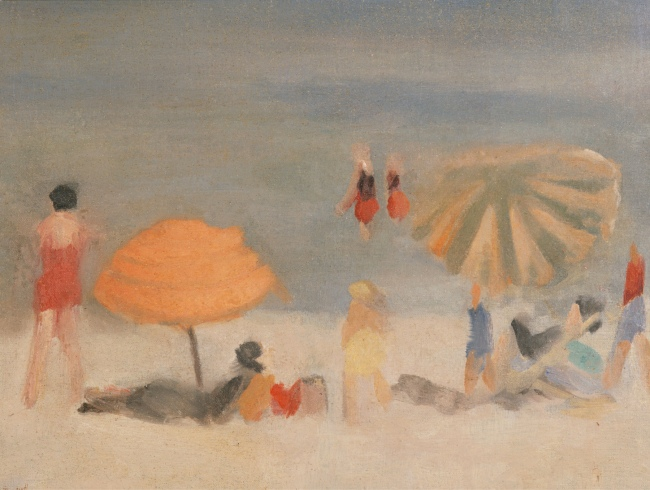 Clarice Beckett (Australia, 1887-1935) 'Beach Scene' 1932