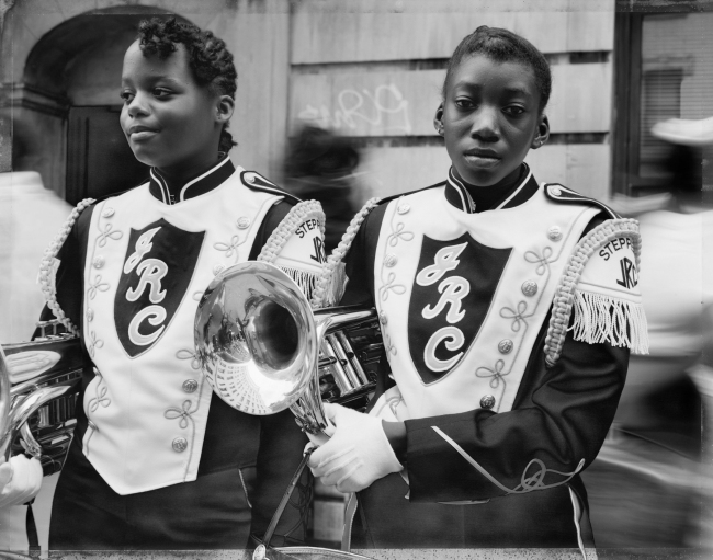 Dawoud Bey (American, b. 1953) 'Two Girls from a Marching Band, Harlem, NY, 1990' 1990