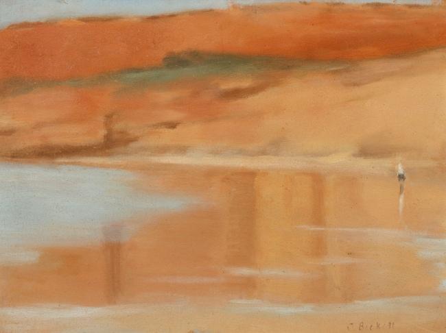 Clarice Beckett (Australia, 1887-1935) 'Wet sand, Anglesea' 1929