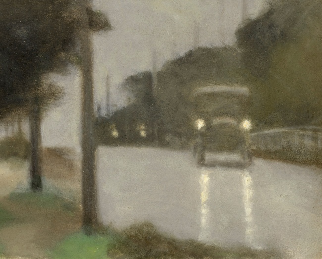 Clarice Beckett (Australia, 1887-1935) 'Motor lights' 1929