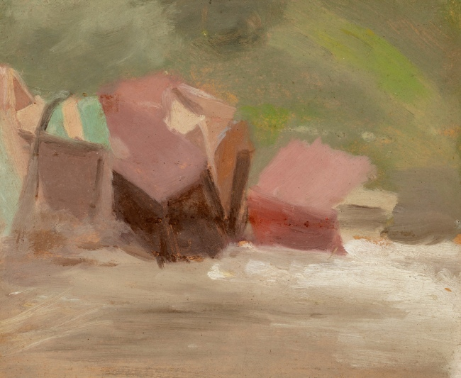 Clarice Beckett (Australia, 1887-1935) 'Bathing boxes after the storm' 1934