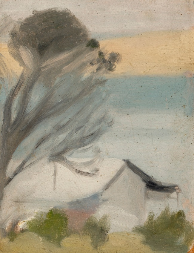 Clarice Beckett (Australia, 1887-1935) 'The cottage San Remo' c. 1931