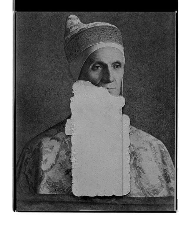 Marcus Bunyan (Australian, b. 1958) 'Untitled (Pope folded)' 1996