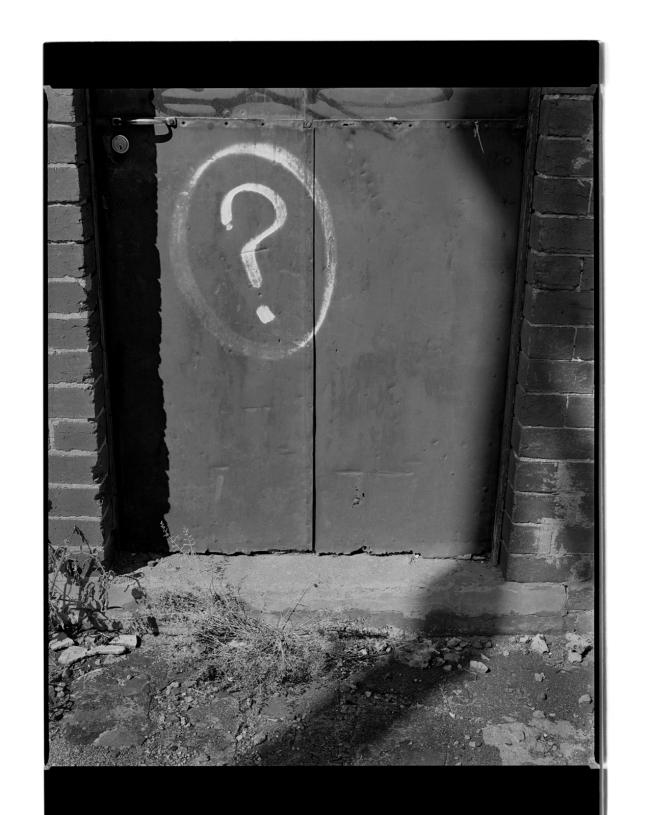 Marcus Bunyan (Australian, b. 1958) 'Question mark' 1995