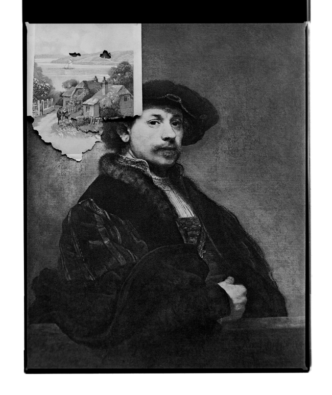 Marcus Bunyan. 'Untitled (Rembrandt thinking)' 1996