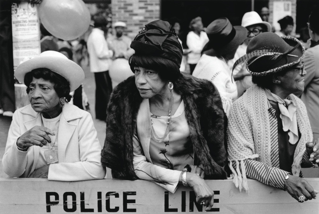 Dawoud Bey (American, b. 1953) 'Three Women at a Parade, Harlem, NY, 1978' 1978