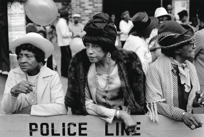 Dawoud Bey (American, b. 1953) 'Three Women at a Parade, Harlem, NY, 1978' 1978