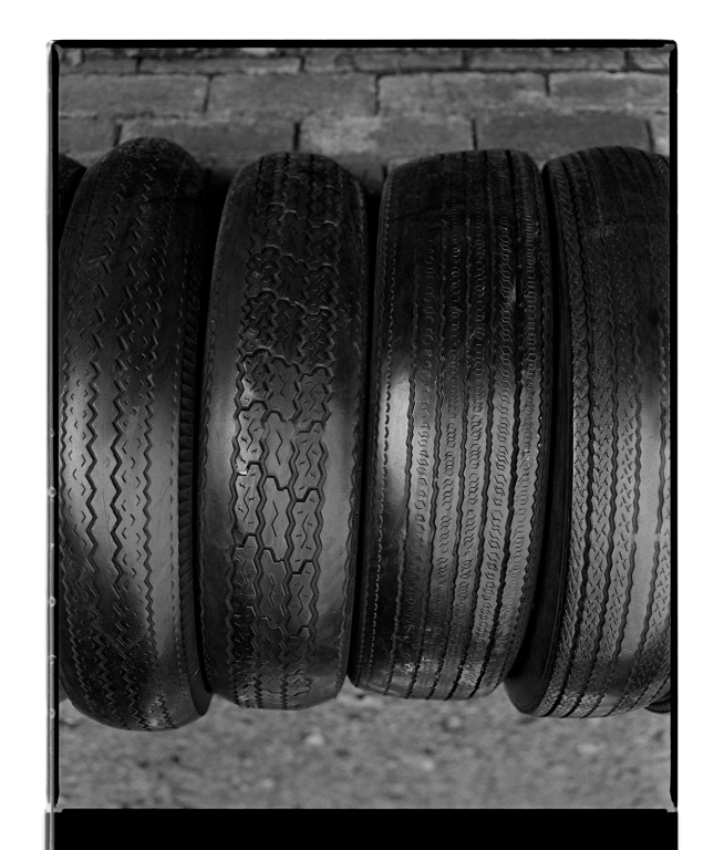 Marcus Bunyan (Australian, b. 1958) 'Four tyres' 1995