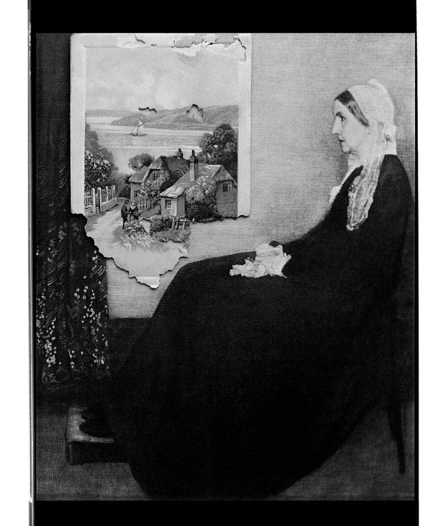 Marcus Bunyan (Australian, b. 1958) 'Whistler's mother (looking out to sea)' 1996
