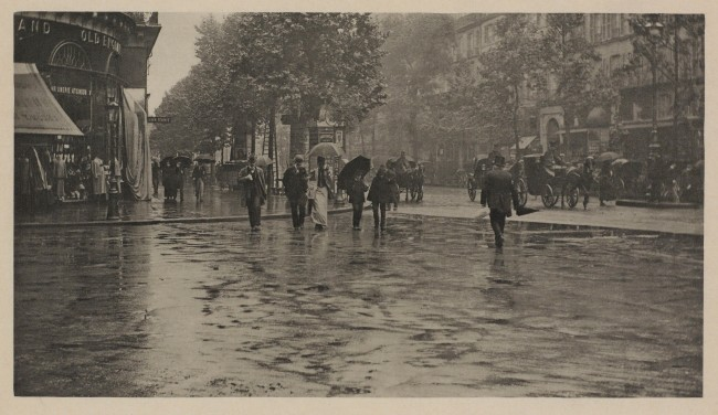 Alfred Stieglitz (1864-1946) 'A Wet Day on the Boulevard, Paris' 1894