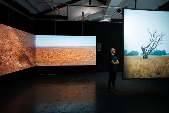 Installation view of the exhibition 'Do Brumbies Dream In Red? – Tom Goldner' 2021