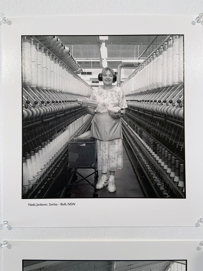 Ruth Maddison (Australian, b. 1945) 'Nada Jankovic. Serbia - Buli, NSW' 1997 (installation view)