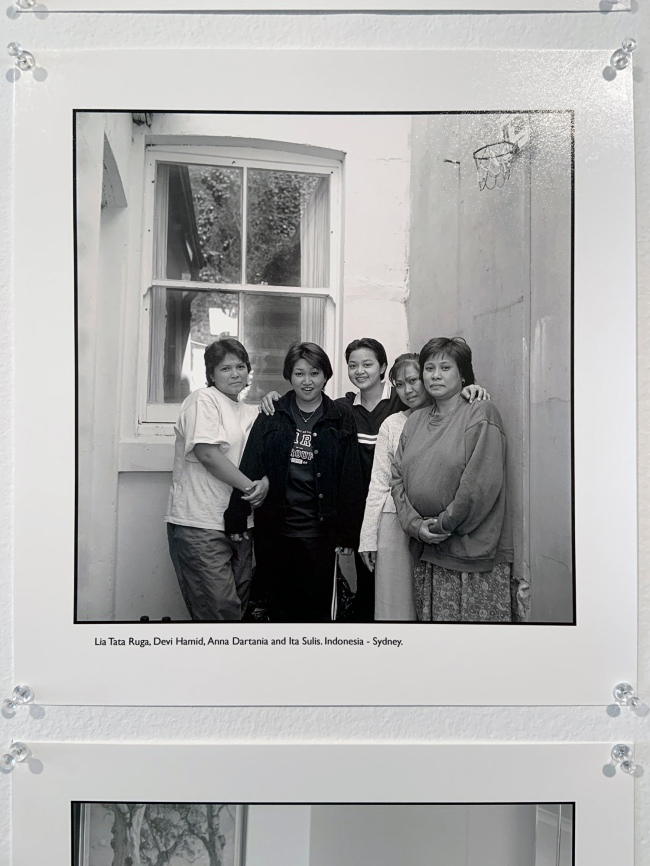 Ruth Maddison (Australian, b. 1945) 'Lia Tata Ruga, Devi Hamid, Anna Dartania and Ita Sulis. Indonesia – Sydney' (installation view) 1997