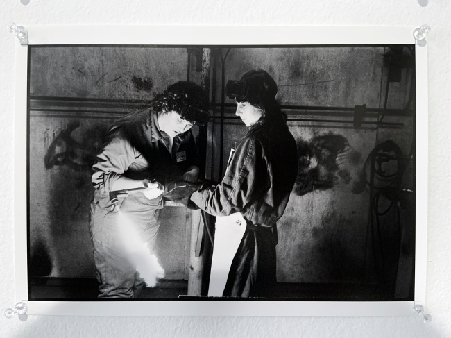 Ruth Maddison (Australian, b. 1945) 'Trade workshop for girls, Preston TAFE' 1984 (installation view)