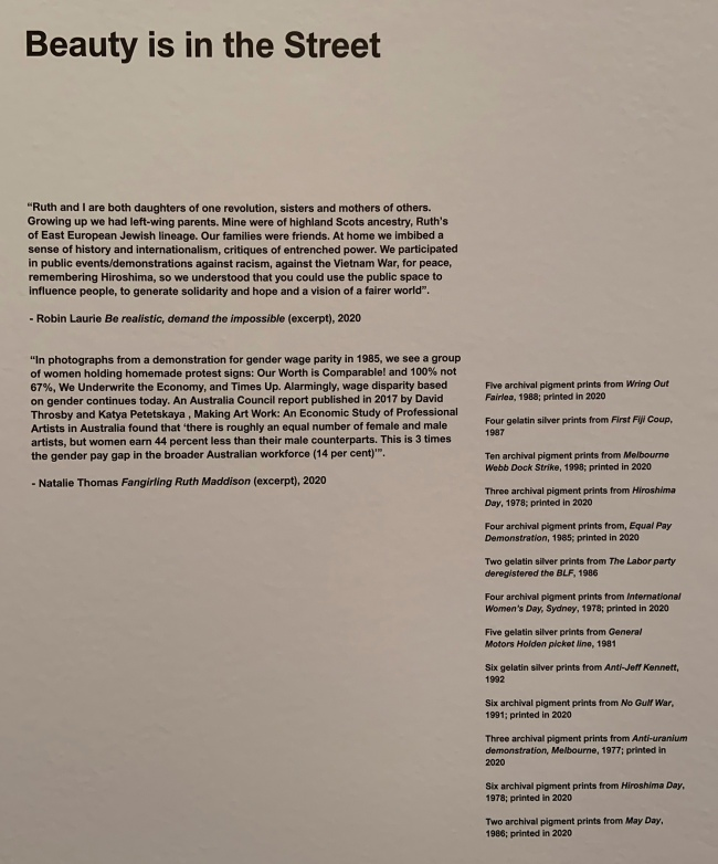Text from the exhibition 'Ruth Maddison It was the best of times, it was the worst of times' at the Centre for Contemporary Photography, Melbourne