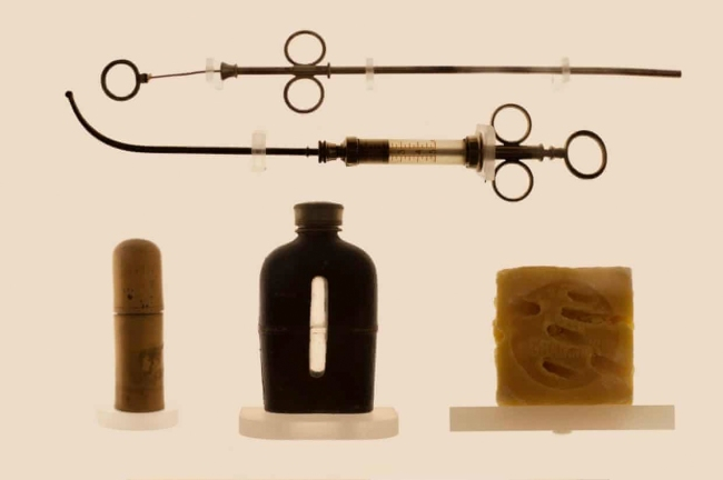 Laia Abril(Spanish, b. 1986) 'Soap and syringes used for abortion, from the Museum of Contraception and Abortion in Vienna' Nd