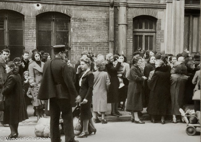 Harry Croner (German, 1903-1992) 'Untitled [Japy gymnasium: families waiting to hand over the suitcases to their loved ones]' May 14, 1941