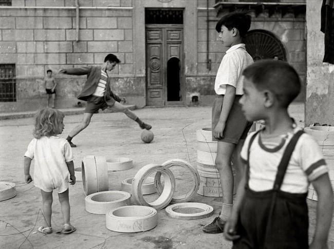 Herbert List (German, 1903-1975) 'Boys Playing Soccer, Naples, Italy' 1950