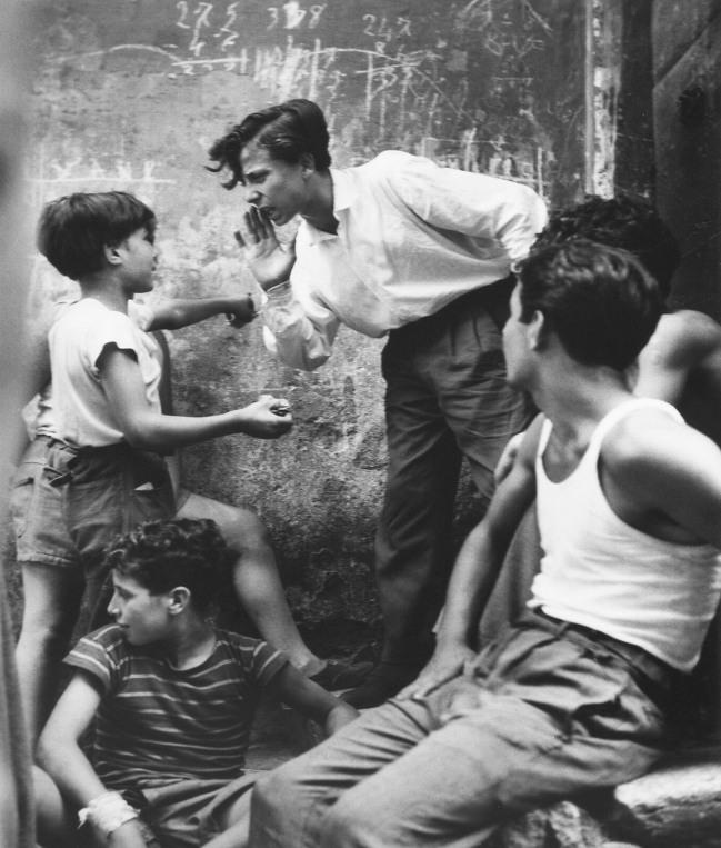 Herbert List (German, 1903-1975) 'Fight in Trastevere, Trastevere, Rome, Italy' 1953