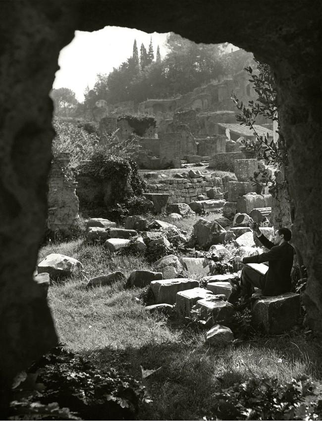 Herbert List (German, 1903-1975) 'Painter in the Forum Romanum, Rome, Italy' 1949