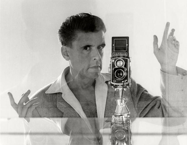 Herbert List (German, 1903-1975) 'Self-Portrait in a Mirror, Rome, Italy' 1955