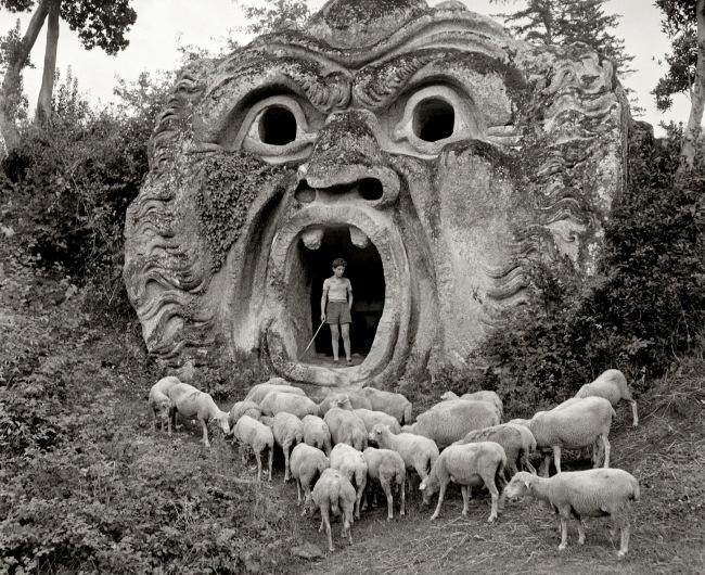 Herbert List (German, 1903-1975) 'Orco, Sacro Bosco – Garden of Pier Francesco Orsini, Bomarzo, (Lazio), Italy' 1952