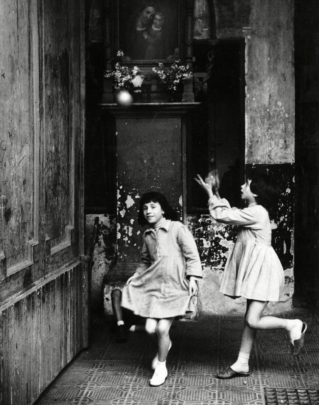 Herbert List (German, 1903-1975) 'Girls playing in a Passageway, Naples, Italy' 1959