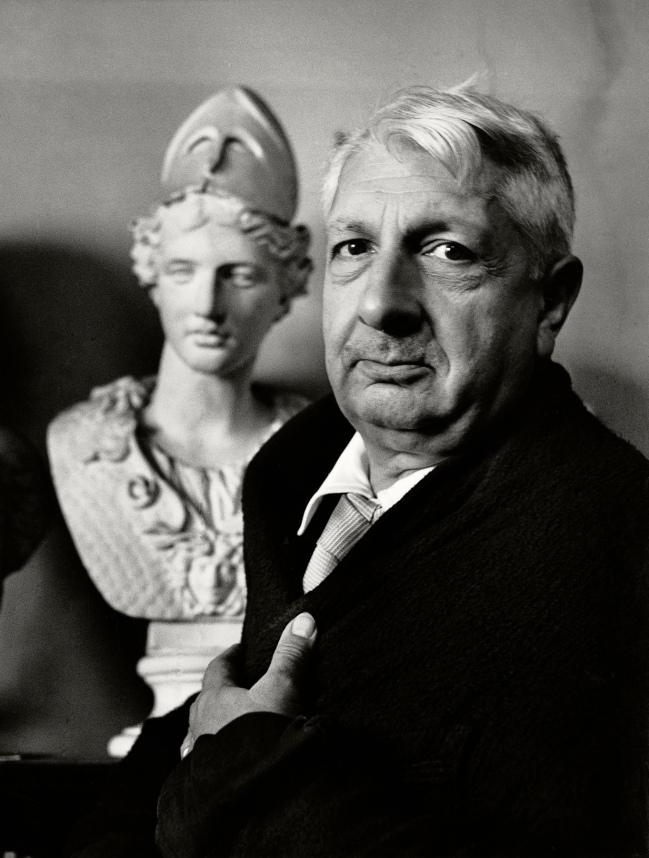 Herbert List (German, 1903-1975) 'Italian Painter Giorgio de Chirico #4, Rome, Italy' 1951