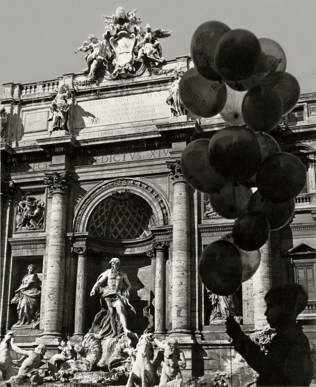 Herbert List (German, 1903-1975) 'Balloons at the Trevi Fountain, Rome, Italy' 1950
