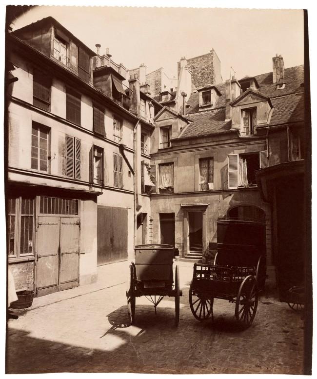 Eugène Atget (French, 1857-1927) 'Vieille maison, 6, rue de Fourcy, IVe' 1910
