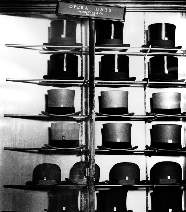 Bill Brandt (British, born Germany 1904-1983) 'Bond Street hatter's show-case' 1934