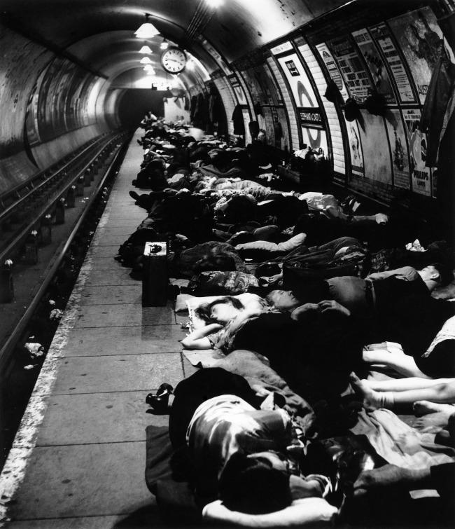 Bill Brandt (British, born Germany 1904-1983) 'Elephant & Castle Underground' 1940