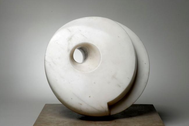 Barbara Hepworth (English, 1903-1975) 'Pierced Hemisphere' 1937