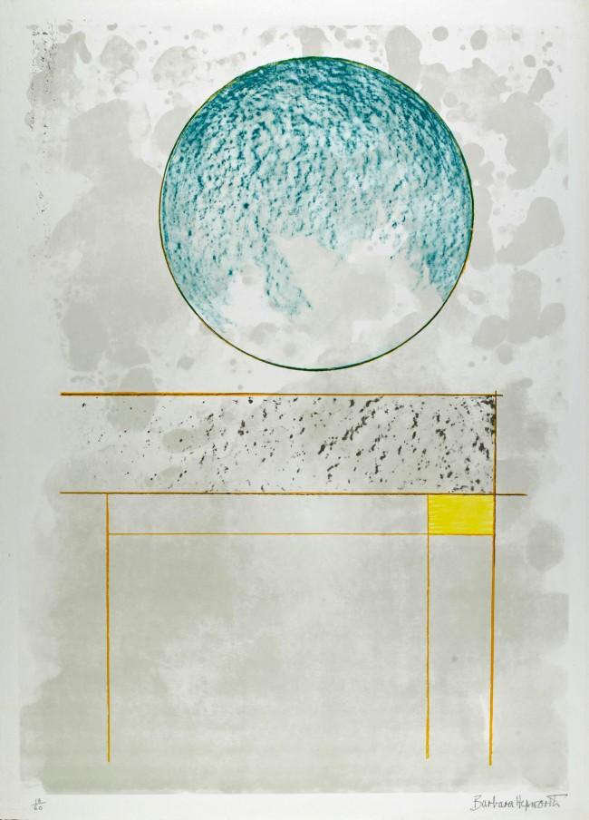 Barbara Hepworth (English, 1903-1975) 'Sun Setting, The Aegean Suite' 1971