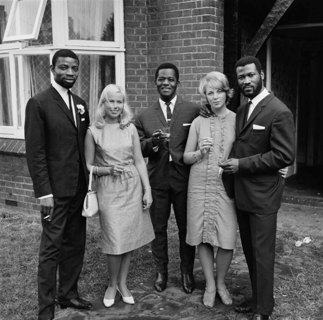 James Barnor (Ghanian, b. 1929) 'A group of friends photographed during Mr. And Mrs Sackey's wedding, London' c. 1966