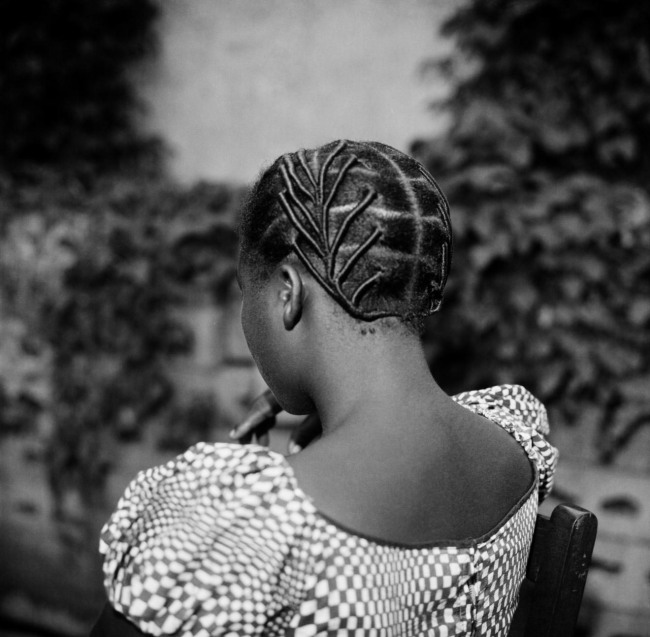 James Barnor (Ghanian, b. 1929) 'Ghanaian traditional hairstyle at Studio X23, Accra' c. 1970s