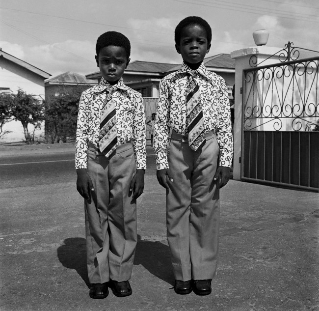 James Barnor (Ghanian, b. 1929) 'Kids dressed in identical suits. Accra' 1970s